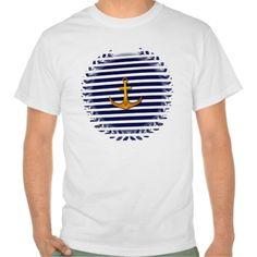 Navy Blue Marine Tee Shirt by Elenaind #ZAZZLE