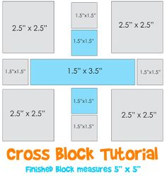 Lori H. Designs: Cross Block Tutorial