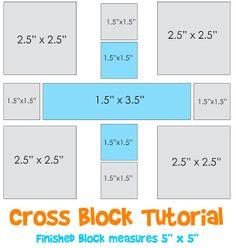 Lori H. Designs: Cross Block Tutorial