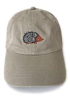 Hedgehog Embroidered Baseball Cap - square paisley design a276057e4ad7