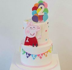 Pig Cakes, Peppa Pig, 3rd Birthday, Desserts, Food, Recipes, 3 Year Olds, Tailgate Desserts, Deserts