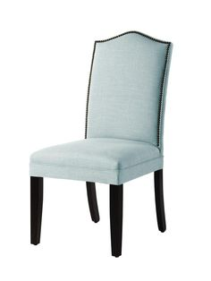 This nailhead trim chair is the perfect addition to your home office #hgtvmagazine http://www.hgtv.com/decorating-basics/the-highlow-list-for-everyday-items/pictures/page-72.html?soc=pinterest