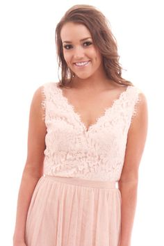 Victoria Top in Cameo Pink Lace