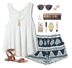 breezy by classically-preppy on Polyvore featuring polyvore, fashion, style, J.Crew, Michael Kors, Charlene K, Illesteva, Urban Decay, NARS Cosmetics, philosophy, Essie, Free People and Kate Spade