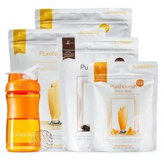 Pure Nourish Beauty Booster Flavor Orange Power Booster Cocoa w/Blender Bottle