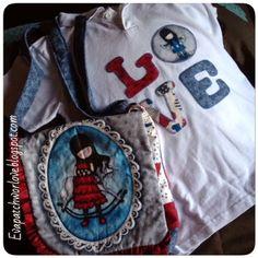 camiseta y bolso a conjunto con aplicaciones de gorjuss