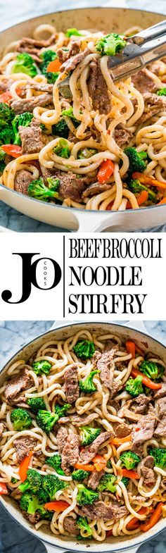This Beef Broccoli Noodle Stir Fry is easy to make, tasty and everyone's favorite! Ready in a matter of minutes, this flavorful dish packs a punch!