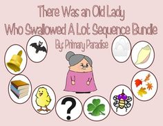 Sequencing activity for each of the There Was An Old Lady Books #reading