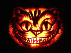 extreme pumpkin carving stencils cheshire cat - Google Search