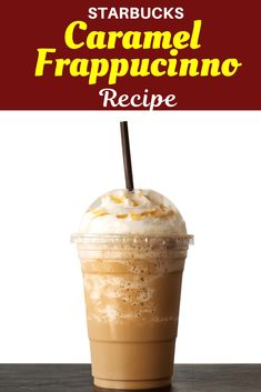 Make your very own Starbucks Caramel Frappuccino with just a few ingredients! This creamy frappuccino will satisfy all your cravings at a fraction of the cost. Caramel Iced Coffee Recipe, Starbucks Caramel Frappuccino, Homemade Frappuccino, Coffee Recipes, Coffee Ice Cubes, Coffee Drinks, Frappuccino Recipe, Ice Milk, Fun Drinks