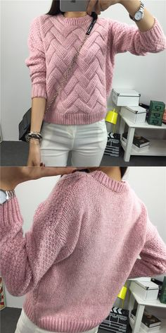 Mohair Sweater, Loose Sweater, Long Sleeve Sweater, Pullover Sweaters, Casual Sweaters, Sweaters For Women, Pull Mohair, Basic Tops, Sweater Design