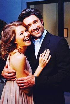 Ellen Pompeo and Patrick Dempsey; Grey's Anatomy