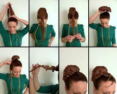 Elegant Up-Do With Braid Art Enhancement - by All Day Chic  --  http://alldaychic.com/style-your-hair-practical-and-elegant/