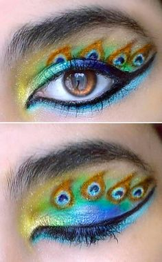 Peacock Inspired Makeup Ideas