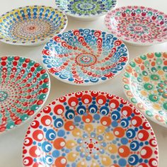 So lovely, these evenings with much light! Pottery Painting Designs, Paint Designs, Pottery Art, Dot Painting, Ceramic Painting, Mandala Painting, Easy Crafts, Arts And Crafts, Stippling Art