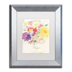 """Trademark Art """"Holiday Bouquet"""" by Sheila Golden Framed Painting Print Size: 14"""" H x 11"""" W x 0.5"""" D"""