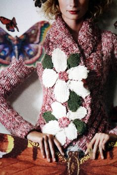 Anthropologie | Rare field flower sweater