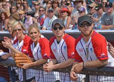 Cool pic!  Lauren Alaina, Kristen Kelly, Carrie Underwood, Greg Bates & Brantley Gilbert, NASHVILLE, TN - JUNE 09: (L-R) Lauren Alaina, Kristen Kelly, Carrie Underwood, Greg Bates and Brantley Gilbert hang out in the dugout during City Of Hope's 2012 Celebrity Softball Challenge on June 9, 2012 in Nashville, Tennessee. (Photo by Rick Diamond/Getty Images for City of Hope) , 2012
