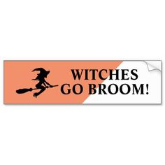 Witches Go Broom! Witch On Broomstick