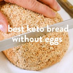 THE BEST KETO BREAD WITHOUT EGGS ketobread ketorecipes ketobaking ketovegan egglessbread almondflourbread bestketobread best psylliumhusk easy vegan coconutflourbread paleobread glutenfreebread grainfreebread Best Keto Bread, Low Carb Bread, Low Carb Keto, Gluten Free Recipes, Low Carb Recipes, Gluten Free Bread Recipe Without Eggs, Vegan Gluten Free Bread, Keto Bread Coconut Flour, Coconut Flour Cakes