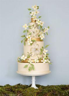 Rosalind Miller Sugar Flower Wedding Cake 7