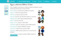 """Encantado de formar parte del listado """"Referentes SEM"""" a seguir en Twitter, seleccionado por aulacm.com #posicionamiento #SEM"""