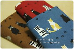 k594_55  cats fabrics   cotton linen  Half by billycottonshop0413, $7.00