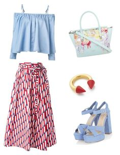 """Summer Sunshine"" by shorouq-dahiyat on Polyvore featuring Marc Jacobs, Vita Fede, Sandy Liang and Ted Baker"