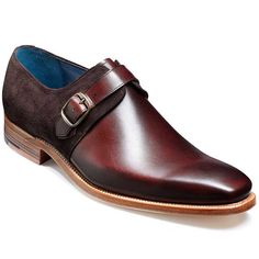 A distinguished monk strap style featuring a brass buckle and suede  contrast quarters. SALE WAS 91bf7a93215