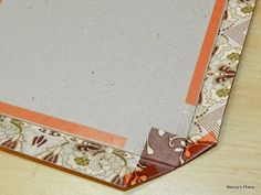 I started by selecting a range of matching papers, cardstockand embellishments from my stash.I didn't worry too much about using particu...