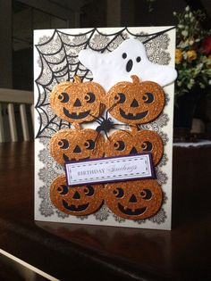 Card for October birthday using Anna Griffin supplies. D Marshall