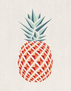 Shape - Pineapple Canvas Print by Basilique  http://society6.com/basilique/pineapple-onq_stretched-canvas#6=28
