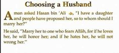 Advice for sisters. Importance of finding an Allah fearing man