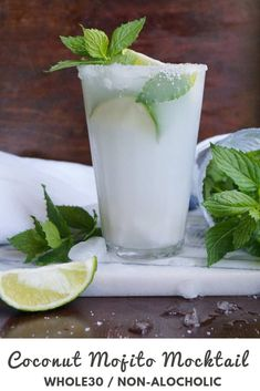 These delicious non-alcoholic summer mocktails are tasty and beautiful to look at 10 Sizzling Summer Mocktails. These delicious non-alcoholic summer mocktails are tasty and beautiful to look at Coconut Milk Drink, Coconut Mojito, Coconut Water, Refreshing Drinks, Summer Drinks, Fun Drinks, Cold Drinks, Milk Shakes, Basil Smash