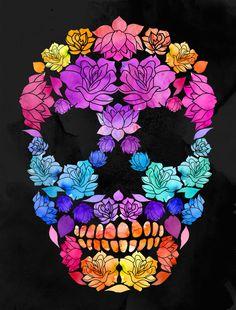Flower Skull by Lia Shaffer, via Behance