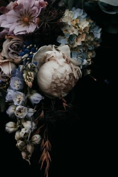 Floral photographic art by Runa + Holly – getinmyhome Photo art with flowers by Runa + Holly – getinmyhome Art Floral, Floral Prints, Art Prints, Midnight Garden, Floral Photography, Flower Wallpaper, Aesthetic Wallpapers, Beautiful Images, Flower Art