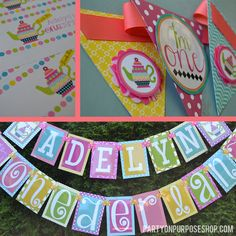 Wonderland Birthday Party Decorations by PartyOnPurposeShop