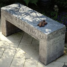 Home Dzine DIY Concrete Projects - How to make concrete garden bench