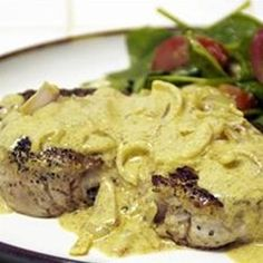 Boneless Pork Chop with Shallot Mustard Sauce - Allrecipes.com
