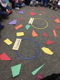 I am a Reggio Emilia inspired Full Day Kindergarten teacher and mother to three young children. Numeracy Activities, Nursery Activities, Kindergarten Activities, Circle Time Activities Preschool, 2d Shapes Activities, Maths Eyfs, Geometry Activities, Group Activities, Preschool Lessons