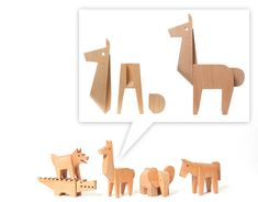 new 2012 woody creatures by Karl Zahn for Areaware - adorable dovetail animals and stackable crocodiles!