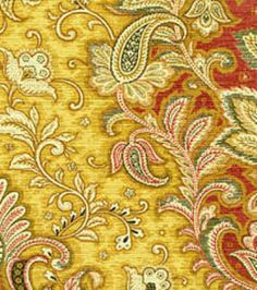 Home Decor Fabrics-Waverly Far And Away Gold $19.99