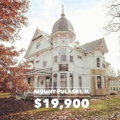"""402 E Jefferson St, Mount Pulaski, IL — Lotsa work. Thank for for sharing this gem, 💛 """"If these walls could talk! Abandoned Mansion For Sale, Old Abandoned Houses, Abandoned Castles, Abandoned Mansions, Abandoned Buildings, Abandoned Places, Creepy Old Houses, Haunted Houses For Sale, Old Houses For Sale"""