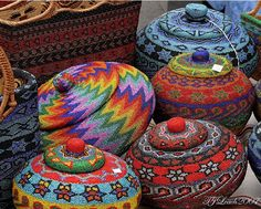 Beautiful beaded baskets