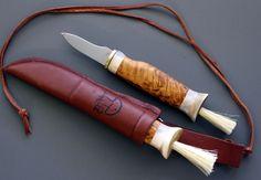 Mushroom Knife wtth Antler