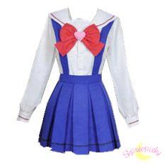 [Custom Made Cosplay Sailor Moon Chibi Moon Chibi Usa] High School Uniform Set SP141616