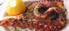 Welcome to Poseidon Hotel Restaurant in Kokkari Samos. Awarded the best eco friendly Hotels in Kokkari Samos Seafood Recipes, Wine Recipes, Grilled Octopus, Summer Dishes, Food Tasting, Mediterranean Recipes, Tandoori Chicken, Food Photo, Food Dishes