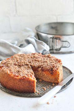 Apricot Crumble Cake #apricotcake #crumblecake #apricots