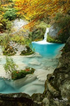 Nacimiento del Urederra Navarra Spain by Jecka Oh Beautiful Waterfalls, Beautiful Landscapes, Beautiful World, Beautiful Places, Spain And Portugal, Aragon, Spain Travel, Places Around The World, Nature Pictures