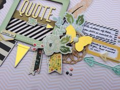 Scrapbook Process Video #34 - Quoted